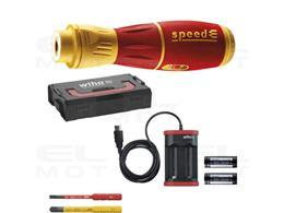 Wiha Wkrętak elektryczny speedE II electric 7-cz., z bitami slimBit, bateriami i ładowarką USB, w kasecie L-Boxx Mini  (44318)-2