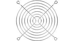 Metalowa kratka ochronna dla wentylatorów 120x120mm LZ38-120-41089