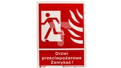 Tabliczka ostrzegawcza /Drzwi przeciwpożarowe zamykać 150x205/ 29P/F1/FS-40997