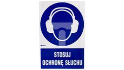 Tabliczka ostrzegawcza /Stosuj ochronę słuchu z podpisem/ IM/003/1/C1/F-40995