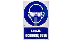 Tabliczka ostrzegawcza /Stosuj ochronę oczu z podpisem/ IM/004/1/C1/F-40994