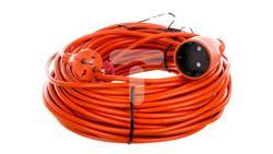 Przedłużacz ogrodowy 1-gniazdo b/u 10A 40m /OMY 2x1/ pomarańczowy PS-160-30783