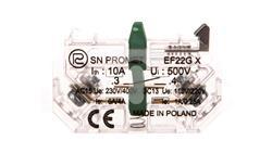 Element łaczeniowy zwierny EF22GX Au złocony do przycisków sterowniczych serii NEF22 i NEK22M W0-Ł EF22GX-AU-19790