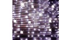 Komplet choinkowy kurtyna 200 LED 4x1m z dodatkowym gniazdkiem kolor ciepły biały 4m x1m 230V 12W IP 44 zewnętrzne 38-928-51004