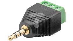 Wtyk jack 3,5mm (3-pinowy, stereo) - mocowanie śrubowe 76745 /10szt./-23702
