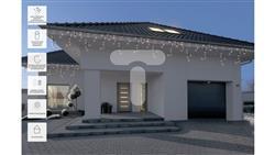 Kurtyna świetlna zewnętrzna 100l kurtyna sople z dod.gniazdem 5m dekoracji+15m przewodu zasilającego ciepły biały 75-658-50995