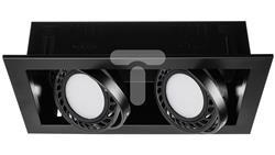 Oprawa wpuszczana sufitowa  SINDY 2 x AR111 czarna lakierowana  LUX06919-50551