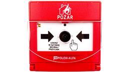 Ostrzegacz pożarowy reczny adresowalny, wtynkowy ROP-4001MH-76035