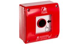 Ręczny ostrzegacz przeciwpożarowy natynkowy, styk 1Z+LED 230V AC OP1-W01-B\10-230-76034