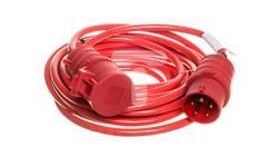 Kabel przedłużajacy (przedłużacz) Super-Solid IP44 10m CEE 400V/16A czerwony AT-N07V3V3-F 5G1,5 1168580-32767