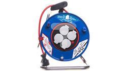 Przedłużacz bębnowy Garant Bretec 25m 4x230V czerwony H05VV-F 3G1,5 1208854-30544