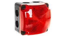 Sygnalizator ostrzegawczy czerwony 24V DC LED błyskowy podwójny 853.110.55-156507