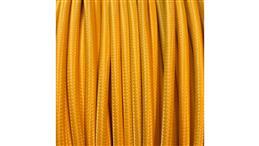 Kolorowy przewód mieszkaniowy H03VV-F (OMY) 3G 0,75 żo w oplocie tekstylnym jednobarwny żółty PPJBZONN01 /bębnowy/-153862