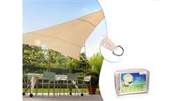 Żagiel ogrodowy zacieniacz UV poliester 4m trójkąt kremowy hydrofobowa powierzchnia GreenBlue GB501-113324