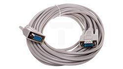 Kabel przedłużający RS232 1:1 Typ DSUB9/DSUB9, M/Ż beżowy 10m AK-610203-100-E-31598