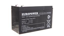Akumulator bezobsługowy AGM 7,2Ah 12V Europower EP 7,2-12-156827
