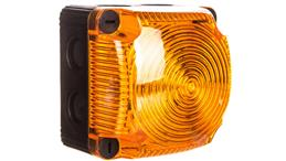 Sygnalizator ostrzegawczy żółty 24V DC LED błyskowy podwójny IP65 853.310.55-156500